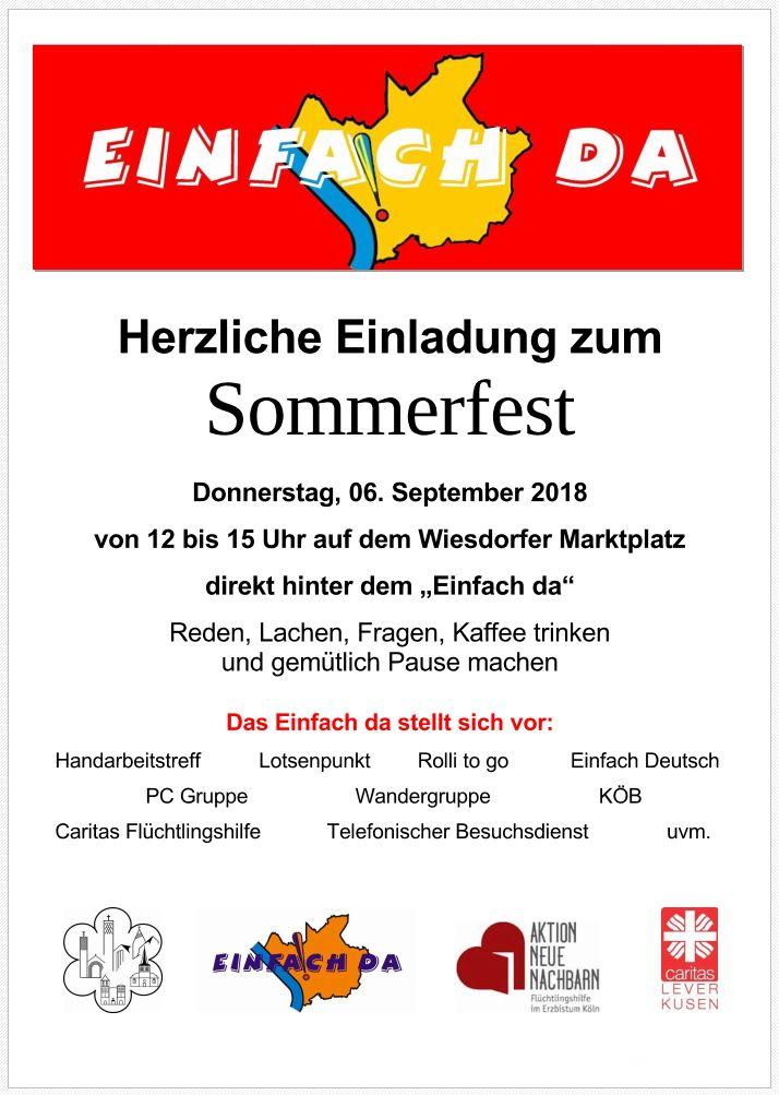 ©-2018-09-06-Flyer Einfach da Sommerfest