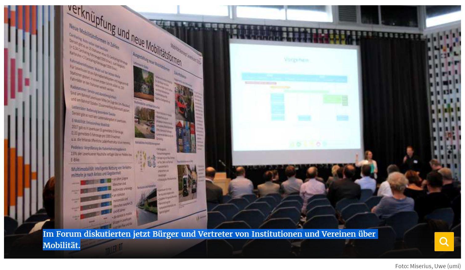 2018-09-06-Im Forum diskutierten jetzt Bürger und Vertreter von Institutionen und Vereinen über Mobilität. - ©-Foto Miserius, Uwe (umi)
